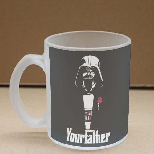 Your Father Frosted Glass Coffee Mug