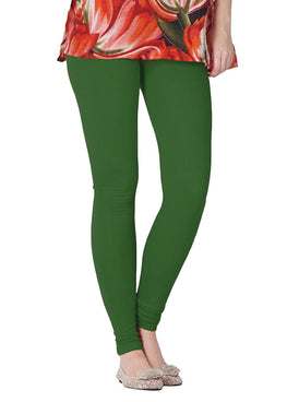 Premium Super Soft Stretchable Free Size Green Leggings for Women