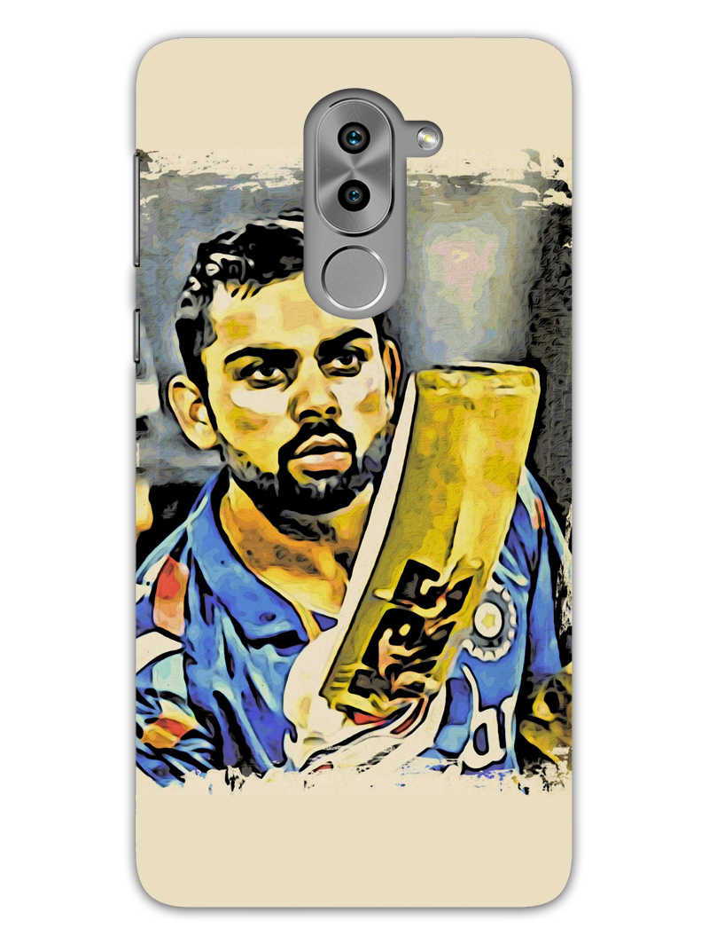 Kohli Bat Kiss Honor 6X Mobile Cover Case