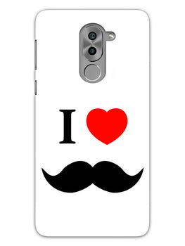 I Love Mustache Style Honor 6X Mobile Cover Case