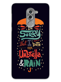 Umbrella And Rain Rainny Quote Honor 6X Mobile Cover Case