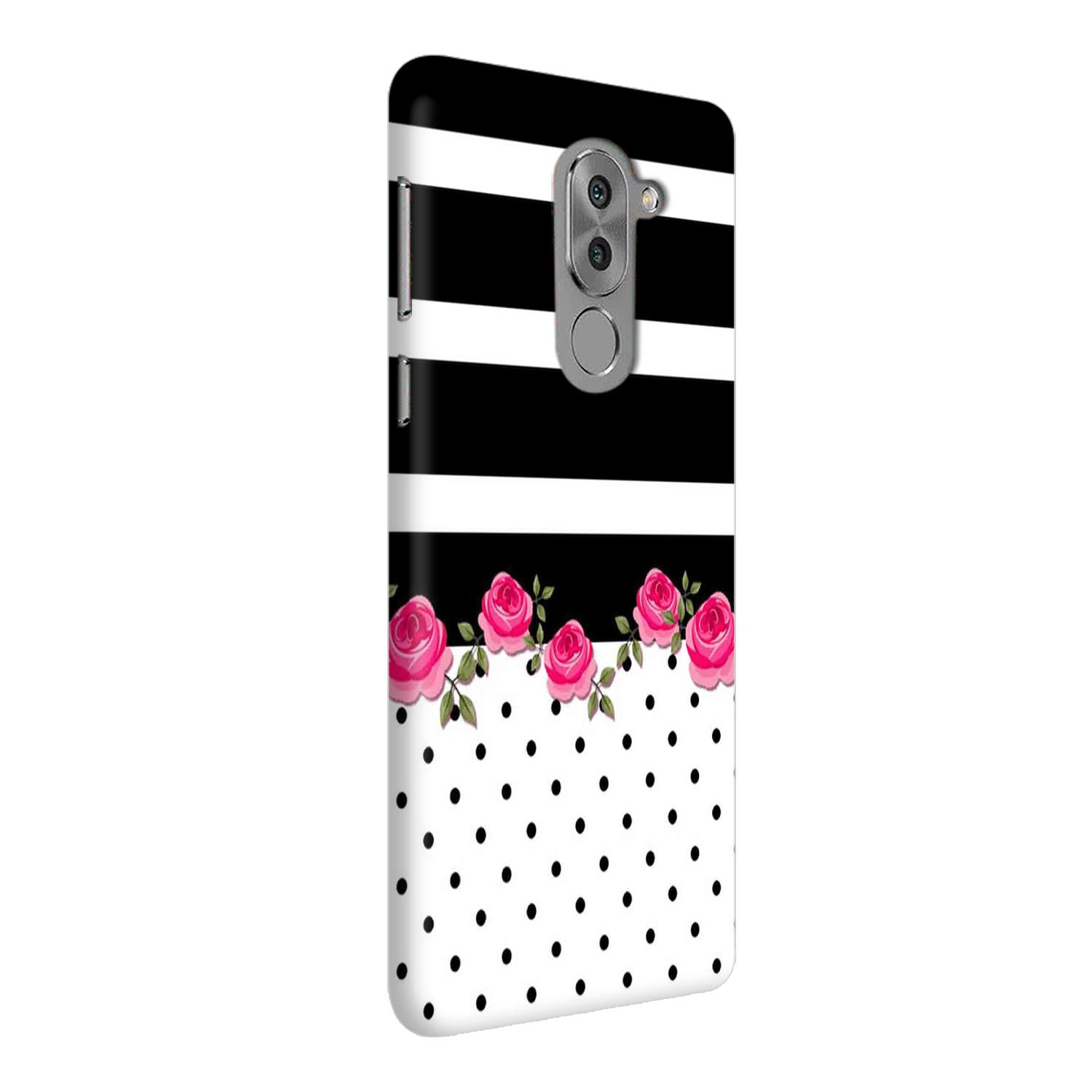 Rose Polka Stripes Honor 6X Mobile Cover Case