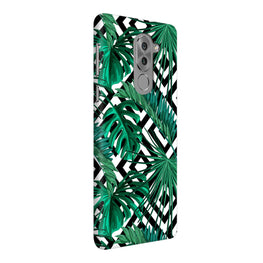 Tropical Leaves With Diamond Pattern Honor 6X Mobile Cover Case