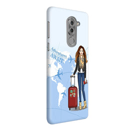Girl Travel Adventure Await Honor 6X Mobile Cover Case