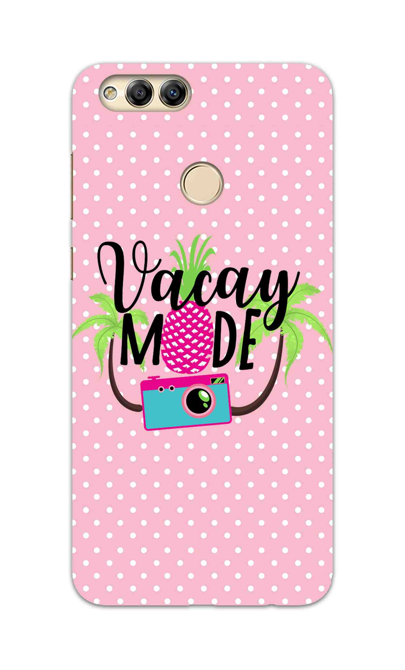 Vacay Mode With Cute White Dots Typography Honor 7X Mobile Cover Case