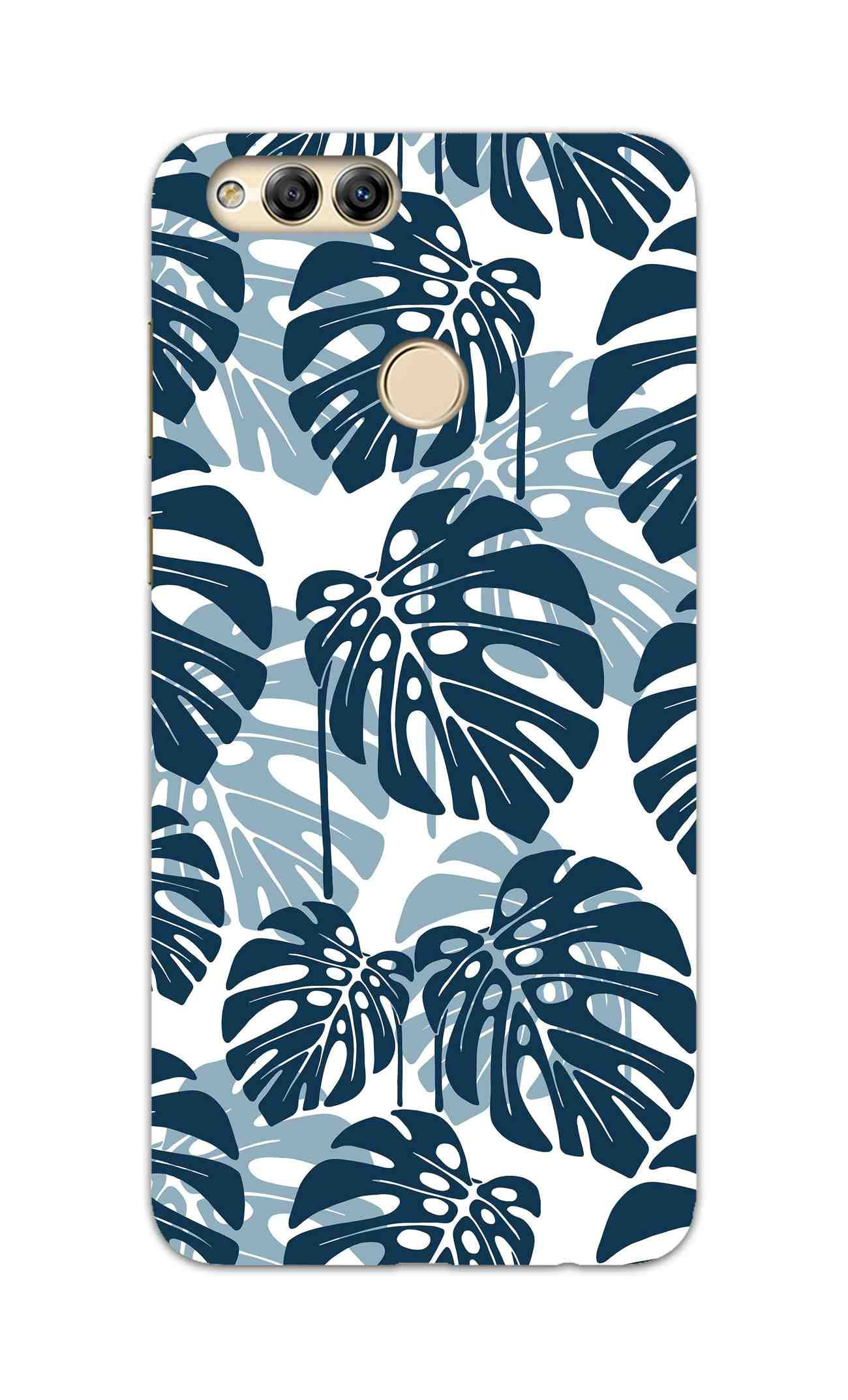 Seamless Tropical Leaves Honor 7X Mobile Cover Case