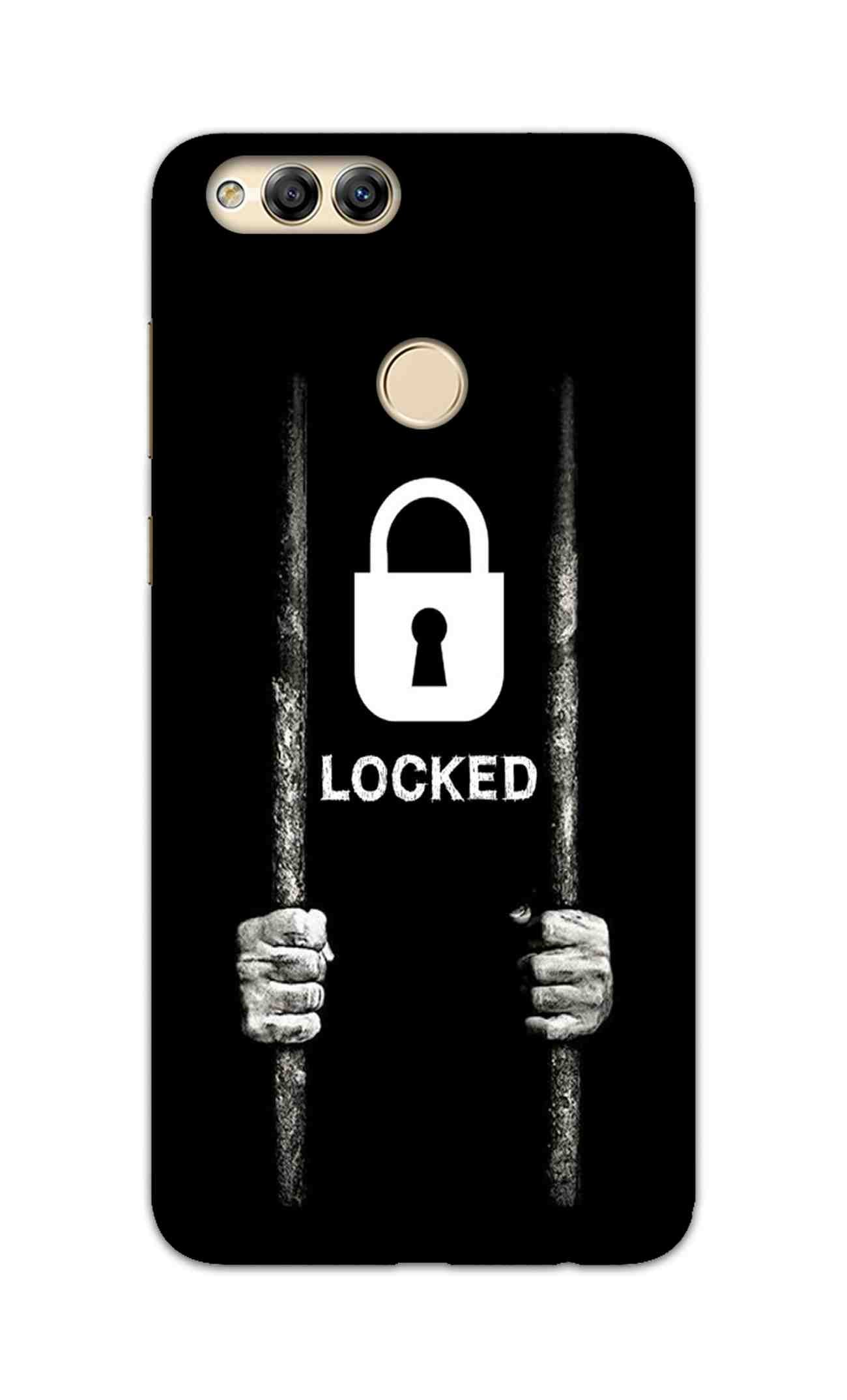 Locked Typography Art For Artist Honor 7X Mobile Cover Case