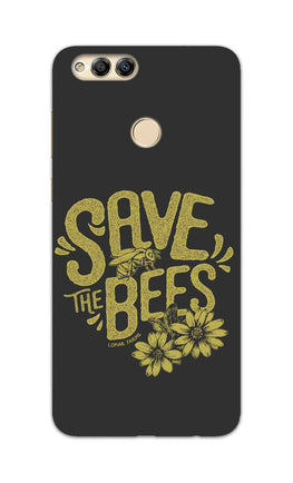 Save The Bees Motivation Quote Honor 7X Mobile Cover Case