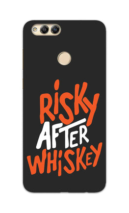 Risky After Whiskey Quote For Drink Lovers Honor 7X Mobile Cover Case