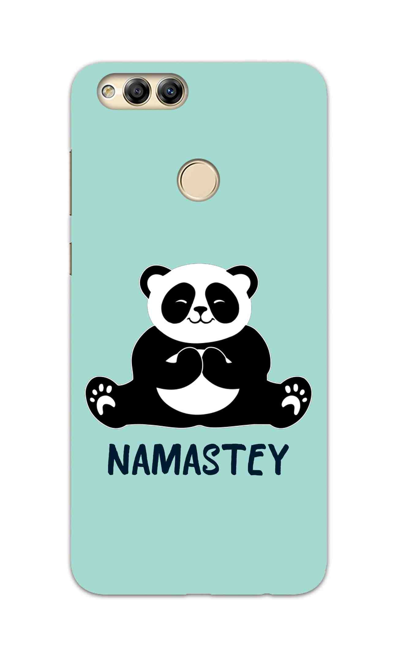 Cute Panda Seying Namastey For Animal Lovers Honor 7X Mobile Cover Case