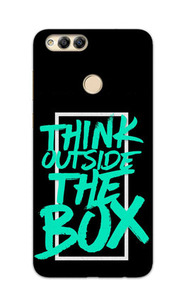 Think Outside The Box Motivation Quote Honor 7X Mobile Cover Case
