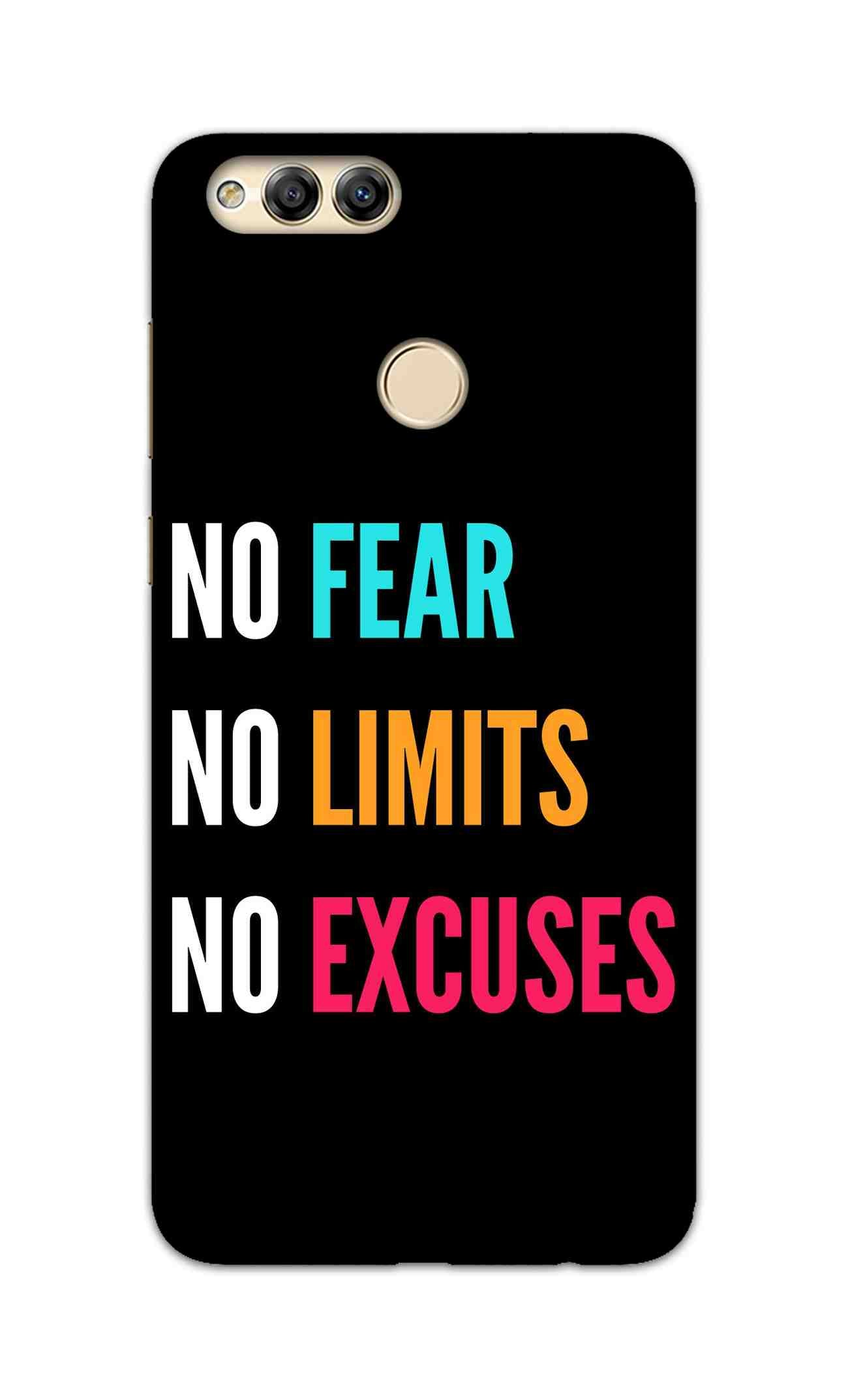 No Fear No Limits No Excuses Motivation Quote Honor 7X Mobile Cover Case