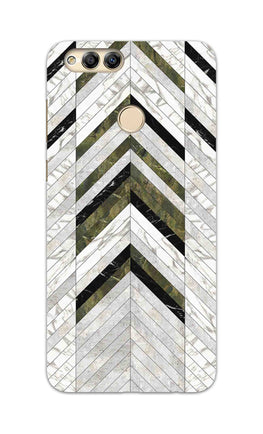 Marble Strips Line Pattern Geometric Art Honor 7X Mobile Cover Case