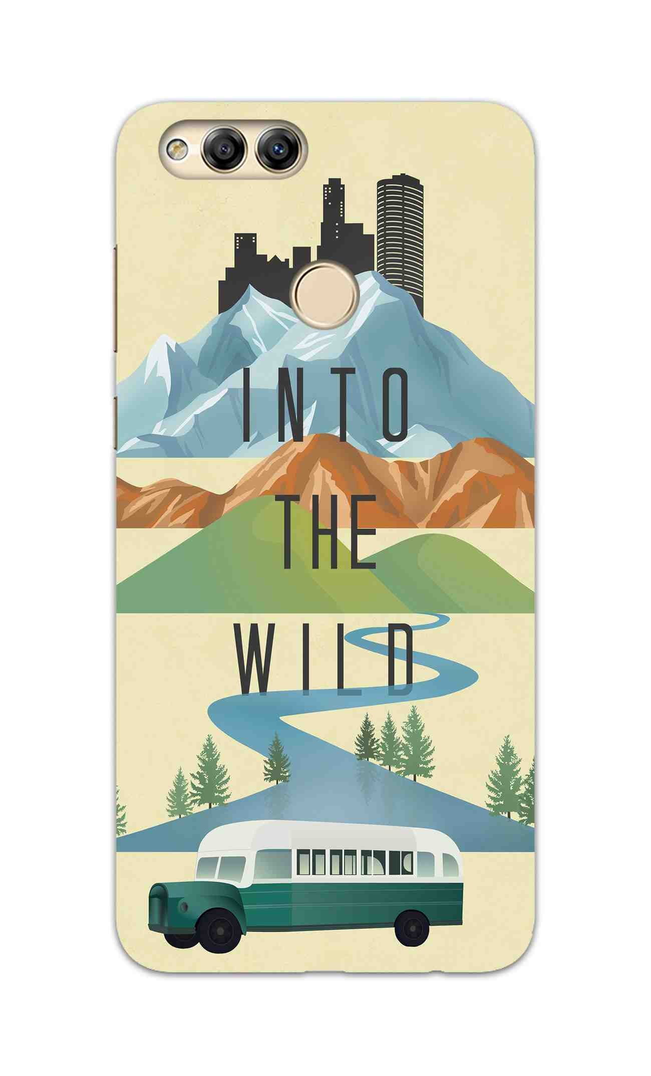 Into The Wild For Travel Lovers Honor 7X Mobile Cover Case