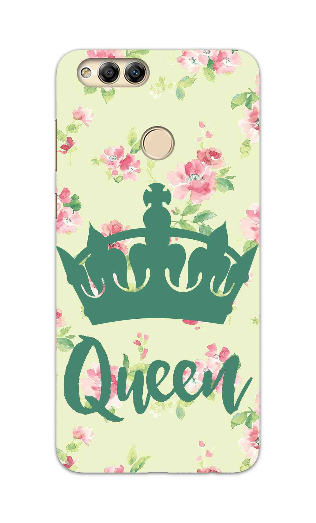 Floral Queen Pattern So Girly Honor 7X Mobile Cover Case