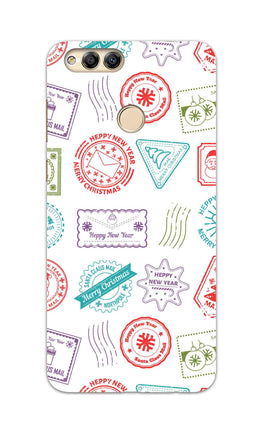 Stampes Pattern Everywhere White  Honor 7X Mobile Cover Case