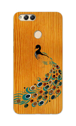 Peacock On Wood So Girly Pattern Honor 7X Mobile Cover Case