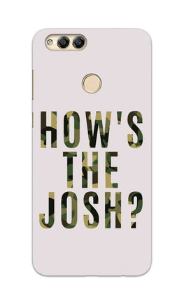 Hows The Josh Typography Honor 7X Mobile Cover Case