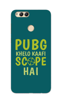 Pubg Khelo Kaafi Scope Hai Game Lovers Honor 7X Mobile Cover Case