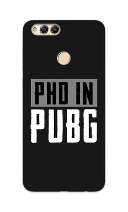 PHD In Pubg Typography For Game Lovers Honor 7X Mobile Cover Case