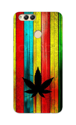 Colorful Vintag Weed Art For Artist Honor 7X Mobile Cover Case