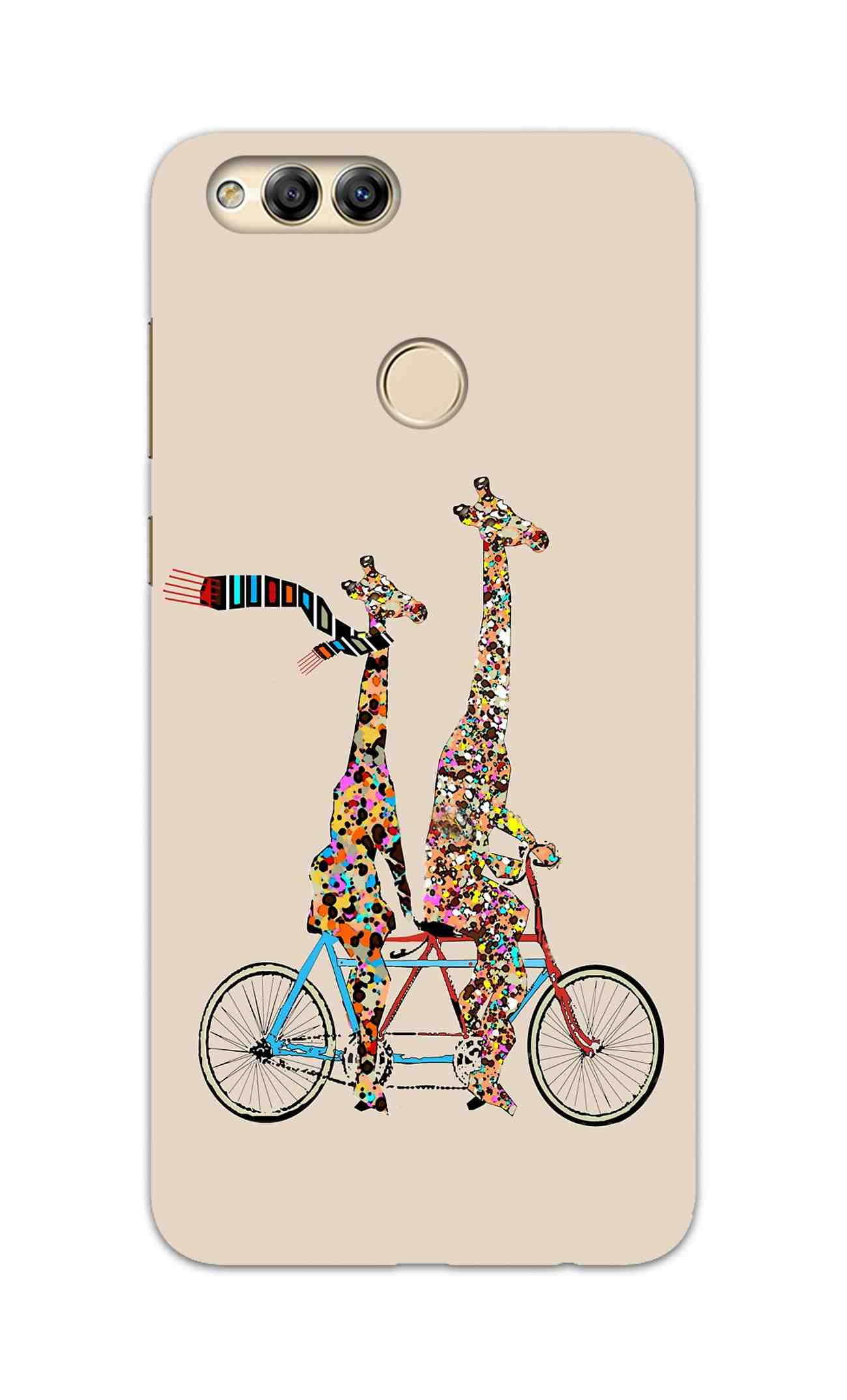 Giraffe Cycling Enjoy Life Funny For Animal Lovers Honor 7X Mobile Cover Case