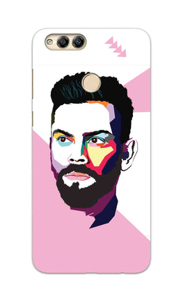 Virat Koli Art For Kohli Cricket Lovers Honor 7X Mobile Cover Case