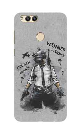 Winner Winner Chicken Dinner Typography Art Honor 7X Mobile Cover Case
