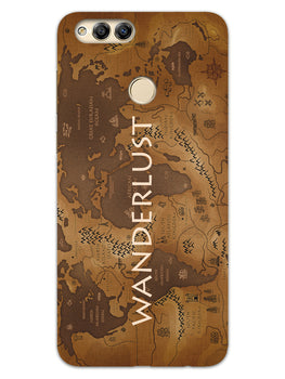 Wanderlust Traveller Globe Trotter Honor 7X Mobile Cover Case
