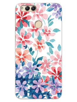 Floral Art Honor 7X Mobile Cover Case
