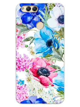 Hand Painted Floral Honor 7X Mobile Cover Case