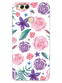 Floral Pattern Honor 7X Mobile Cover Case