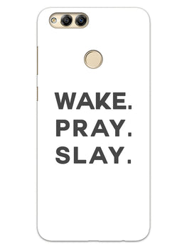 Wake Pray Slay Honor 7X Mobile Cover Case