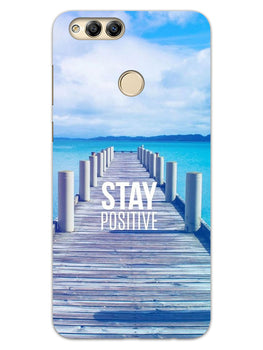 Stay Positive Honor 7X Mobile Cover Case