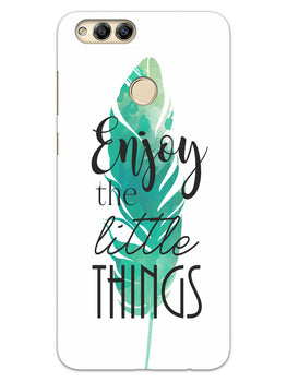 Live To Enjoy Little Things Honor 7X Mobile Cover Case