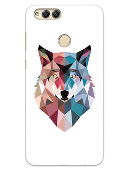 Geometric Wolf Poly Art Honor 7X Mobile Cover Case