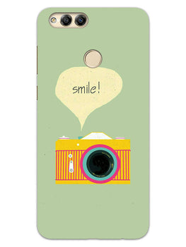 Smile Vintage Camera Honor 7X Mobile Cover Case