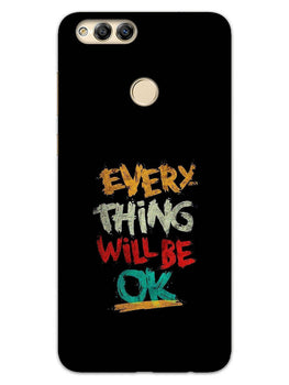Every Thing Will Be Ok Honor 7X Mobile Cover Case