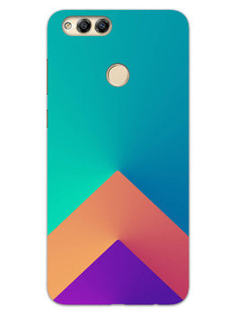 Triangular Shapes Honor 7X Mobile Cover Case