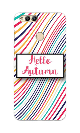 Lines Autumn For Artist Honor 7X Mobile Cover Case
