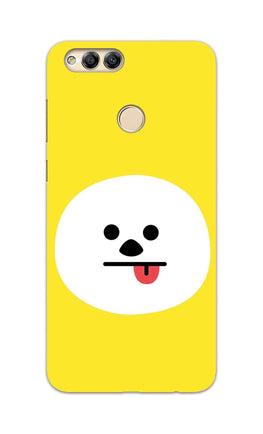 Tongue Out Smile Funny Face Honor 7X Mobile Cover Case