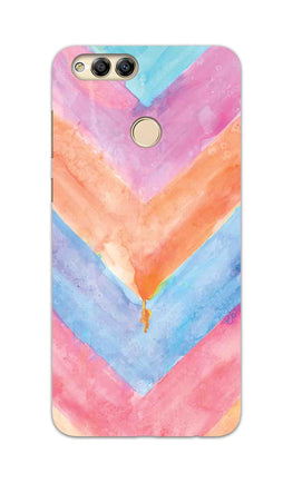 WaterColor Chevron Pattern Honor 7X Mobile Cover Case