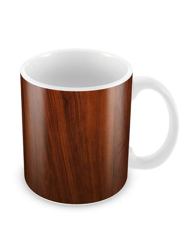 Cherry Wood Ceramic Coffee Mug