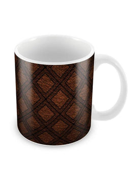 Thatched Pattern Ceramic Coffee Mug