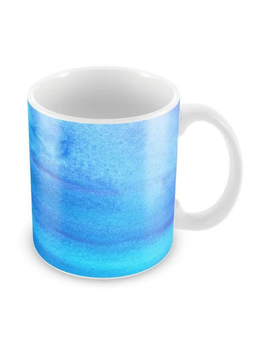Blue Art Strokes Ceramic Coffee Mug