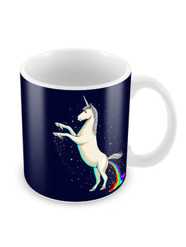 Shit a Rainbow Ceramic Coffee Mug