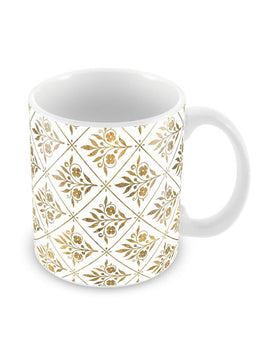 Gold Motifs Pattern Ceramic Coffee Mug