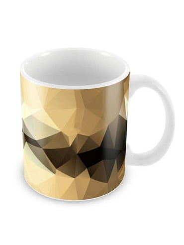 Gold Black Abstract Ceramic Coffee Mug