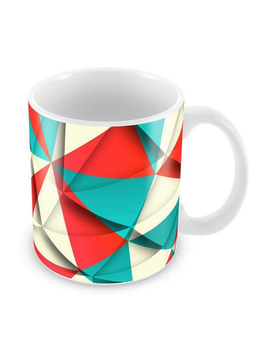 Triangular Pattern Ceramic Coffee Mug