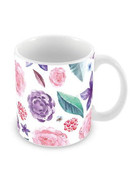 Floral Pattern Ceramic Coffee Mug